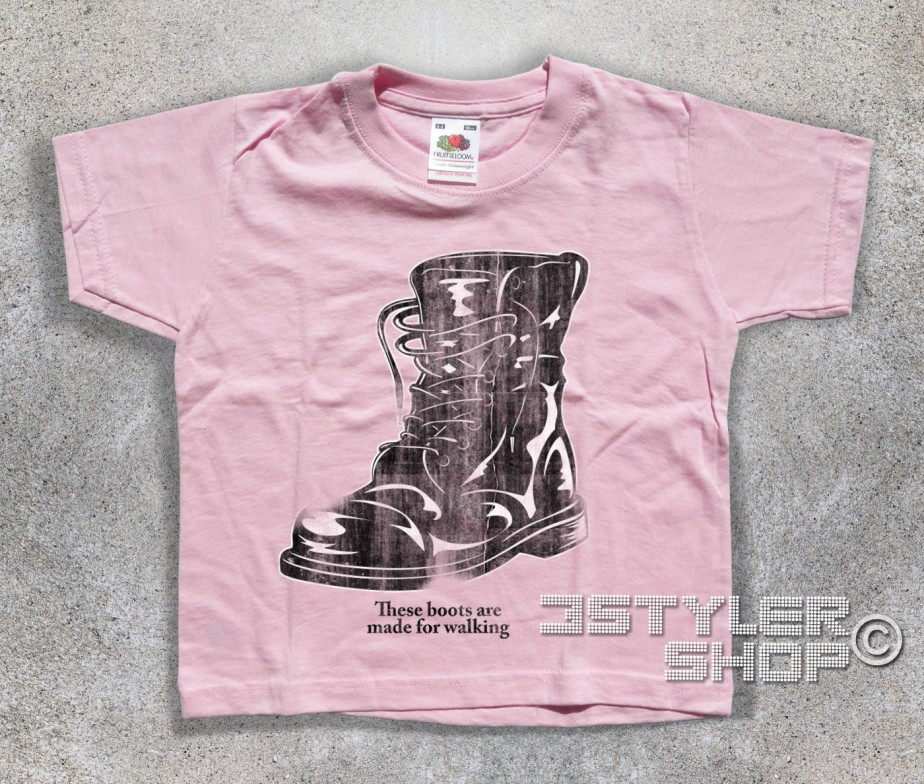 Boots T Shirt Bambino These Boots Are Made For Walking