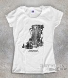 """boots t-shirt donna ispirata alla canzone di nancy Sinatra """"these boots are made for walkin'"""""""