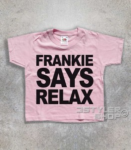Frankie says relax t-shirt bambino ispirata al singolo dei Frankie goes to hollywood