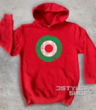 target italia felpa bambino raffigurante un target con i colori della bandiera italiana e in versione antichizzata