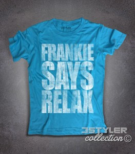 Frankie says relax t-shirt uomo scritta vintage