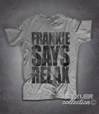 Frankie says relax t-shirt uomo vintage ispirata al singolo dei Frankie goes to hollywood