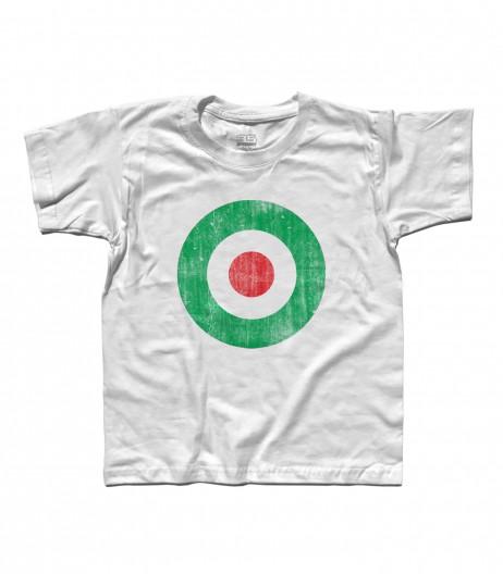 target italia t-shirt bambino raffigurante un target con i colori della bandiera italiana e in versione antichizzata