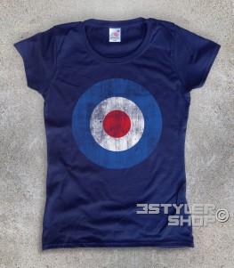 target mods t-shirt donna raffigurante il classico simbolo dei Mods in versione antichizzata