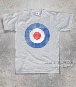 target mods t-shirt uomo raffigurante il classico simbolo dei Mods in versione antichizzata