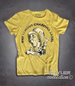Charisma label t-shirt donna raffigurante il logo con il cappellaio matto