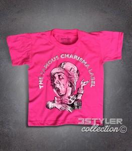 Charisma label t-shirt bambino raffigurante il logo con il cappellaio matto