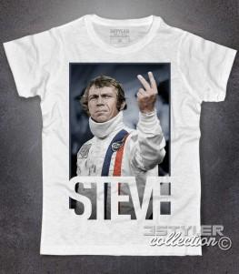 Steve McQueen t-shirt raffigurante l'attore di Le 24 ore di le mans