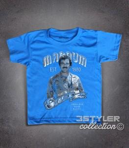 Magnum PI t-shirt bambino ispirata al famoso investigatore privato delleHawaii