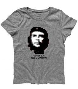 che guevara t-shirt con scritta viva la resolution
