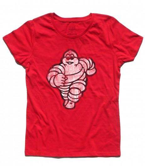 omino michelin t-shirt donna bibendum vintage