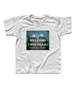 Welcome to Twin Peaks t-shirt bambino raffigurante il cartello di benvenuto della cittadina