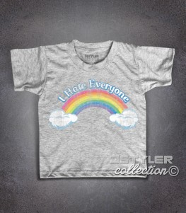 I hate everyone t-shirt bambino ispirata al cartone animato cult anni 80 dei Care Bears