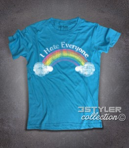 I hate everyone t-shirt uomo ispirata al cartone animato cult anni 80 dei Care Bears