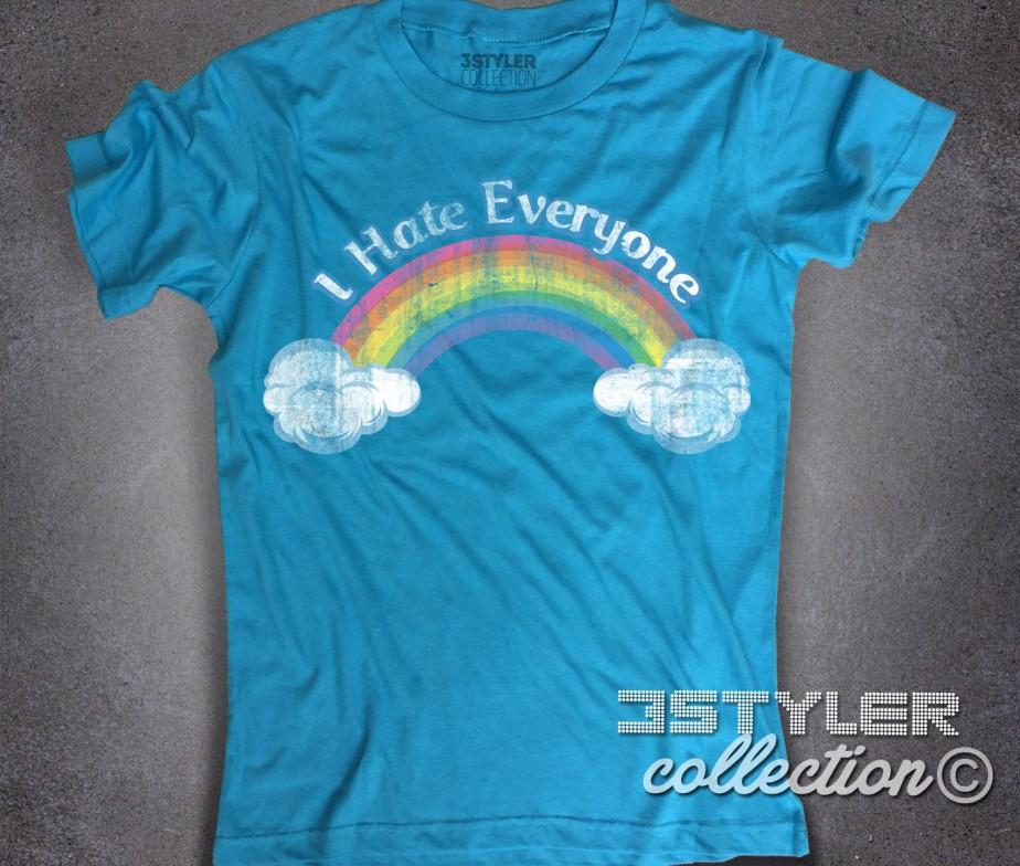 I hate everyone t-shirt uomo ispirata al cartone animato cult anni 80 dei  Care 8294ef53b175