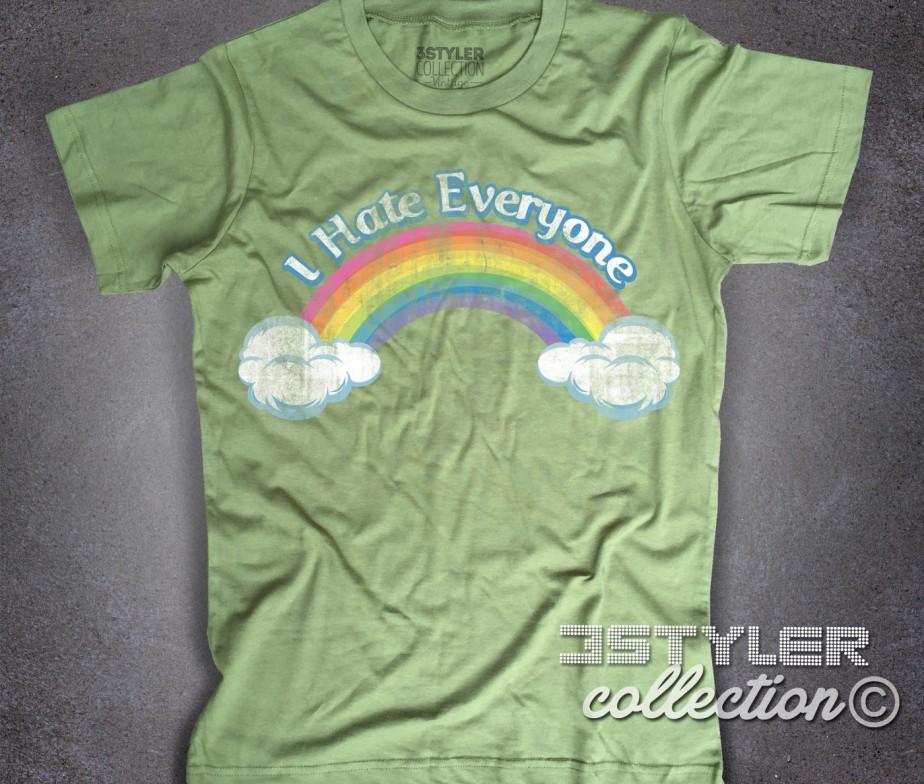 ... I hate everyone t-shirt uomo ispirata al cartone animato cult anni 80  dei Care ... 5a95ee3432a8