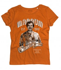 Magnum PI t-shirt donna ispirata al famoso investigatore privato delleHawaii
