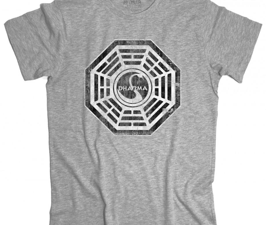 FELPA Lost Dharma stazione Cigno Telefilm t-shirt