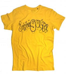SuperGulp t-shirt uomo raffigurante il logo della famosa trasmissione che negli anni 70 e 80 portò i fumetti italiani e americani in TV