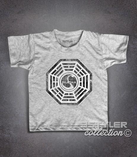 Dharma project t-shirt bambino ispirata alla serie televisiva Lost