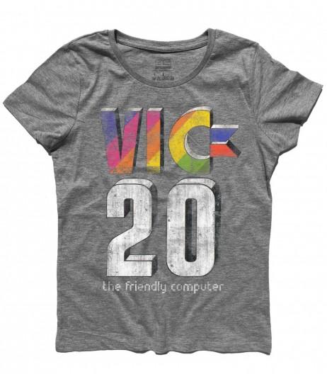 commodore VIC-20 t-shirt raffigurante il logo dell'home computer antichizzato