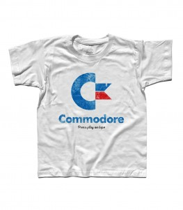 commodore 64 t-shirt bambino con logo e scritta Press play on tape
