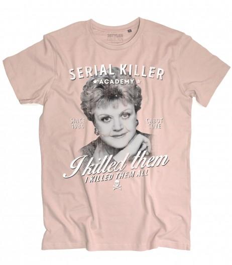 Jessica Fletcher t-shirt uomo ispirata al telefilm la signora in giallo (Murder, She Wrote)