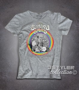 The Banana Splits t-shirt donna raffigurante i componenti della band dei cartoni anni 70