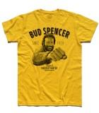 Bud spencer t-shirt uomo raffigurante l'attore mentre da un pugno e la scritta vintage fighter