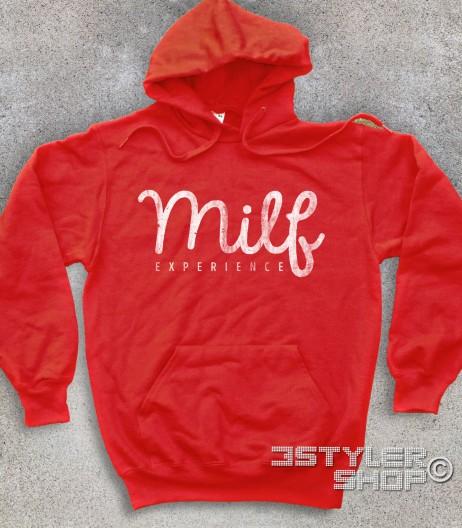 milf felpa unisex con scritta antichizzata Milf experience