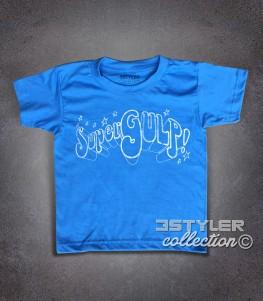 SuperGulp t-shirt bambino raffigurante il logo della famosa trasmissione che negli anni 70 e 80 portò i fumetti italiani e americani in TV