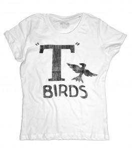 t-birds t-shirt donna ispirata al film musical grease