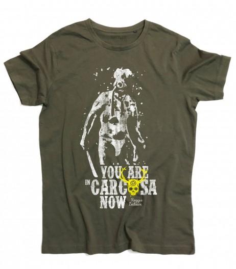 Reggie Ledoux t-shirt uomo ispirata alla serie true detective e scritta you are in carcosa