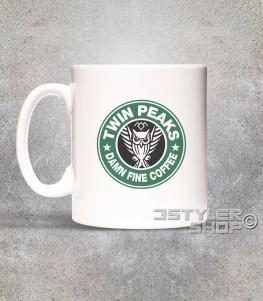 twin peaks tazza mug ispirata al logo di starbucks e alla serie cult