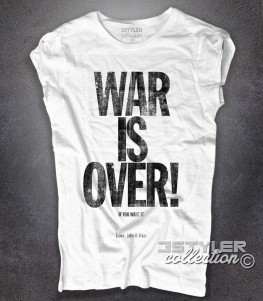 War is Over t-shirt donna ispirata alla canzone di Natale composta da John Lennon and Yoko Ono