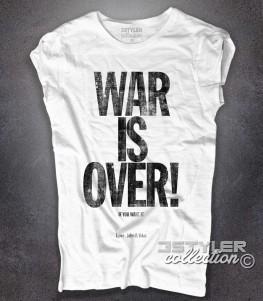 War is Over t-shirt donna ispirata alla canzone di Natale composta da John Lennon and Yoko Ono