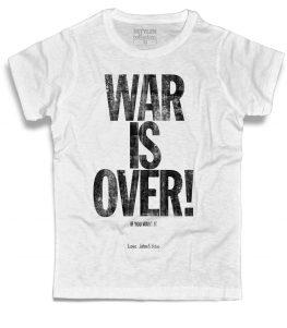 War is Over t-shirt uomo ispirata alla canzone di Natale composta da John Lennon and Yoko Ono