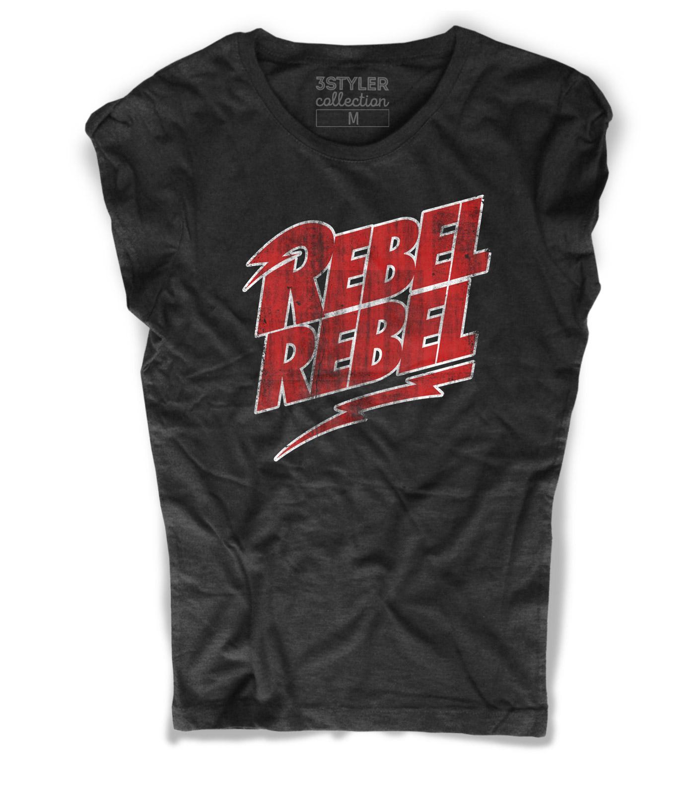 Bambina Ragazza David Bowie Principessa Leila T-Shirt Rebel Rebel Maniche Corte Colore Bianco Bimba Ragazzina