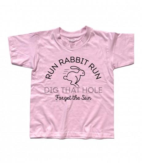 breathe t-shirt bambino ispirata ai pink floyd con scritta Run Rabbit Run