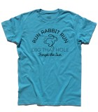 breathe t-shirt uomo ispirata ai pink floyd con scritta Run Rabbit Run