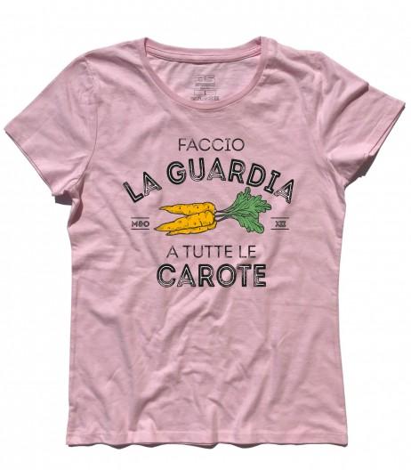 Masha e Orso t-shirt donna faccio la guardia a tutte le carote