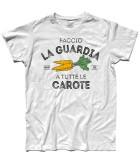 Masha e Orso t-shirt uomo faccio la guardia a tutte le carote