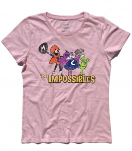 the impossibles t-shirt donna gli impossibili