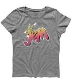 Jem t-shirt donna raffigurante il logo di Jem e le Holograms