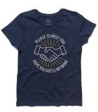 Sympaty for the devil t-shirt donna ispirata alla canzone dei rolling stones