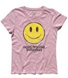 acid house t-shirt donna con smile antichizzato