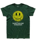 acid house t-shirt uomo con smile antichizzato