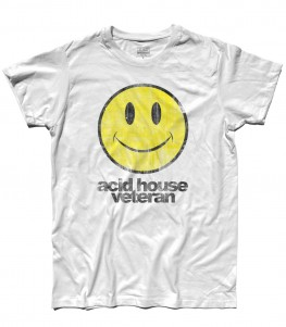 acid house t-shirt uomo con smile antichizzato