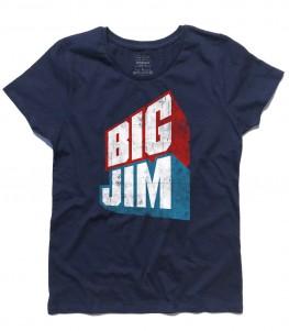 big jim t-shirt donna raffigurante il logo in versione vintage
