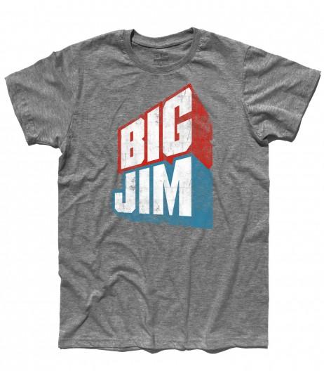 big jim t-shirt uomo raffigurante il logo in versione vintage